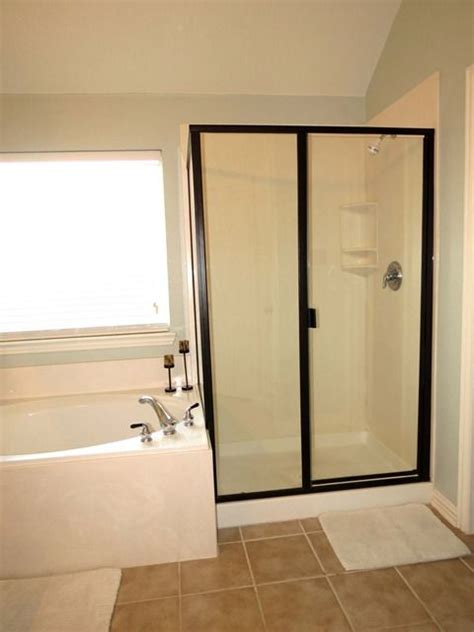 bathroom door paint rustoleum oil rubbed bronze paint over gold shower trim