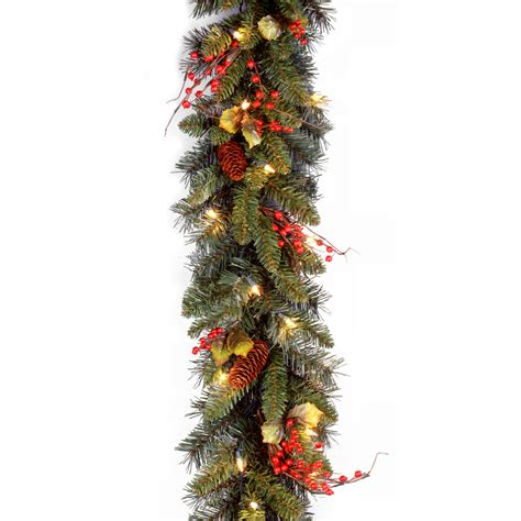 outdoor lighted christmas garland sears com