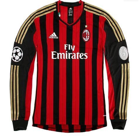 Jersey Ac Milan Home Ls 1213 ac milan 13 14 uefa chions league longsleeve home
