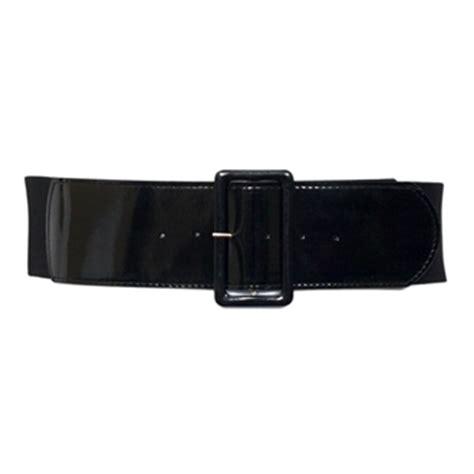plus size wide patent leather fashion belt black evogues