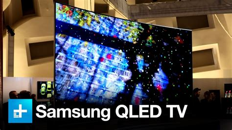samsung qled tv on at ces 2017
