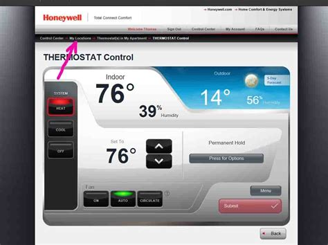 honeywell total connect comfort thermostat how to unregister honeywell wifi thermostat rth9580wf