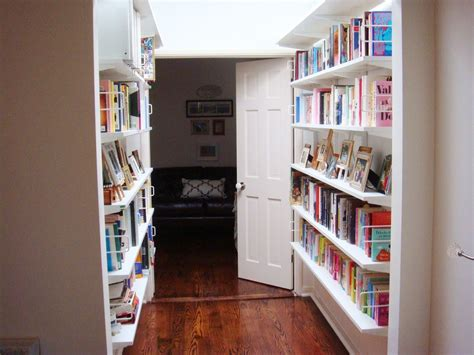 before after hallway bookshelf brightened in a fab