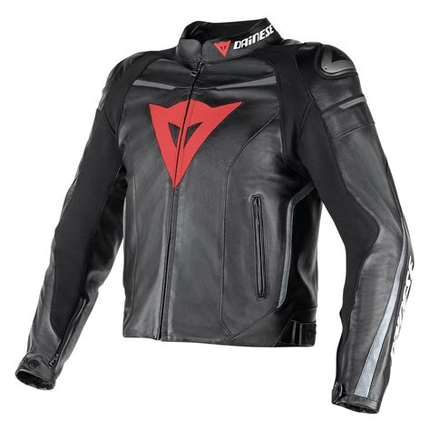 dainese fast perforated leather jacket revzilla