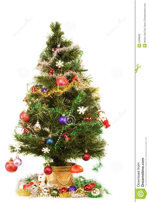 decorated christmas tree royalty free stock photos image