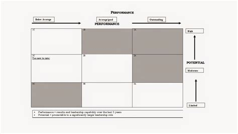 9 box template great leadership the performance and potential matrix 9