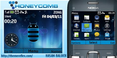 nokia c3 android themes android honeycomb in nokia c3 x2 01 themereflex