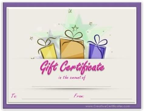 printable gift certificates birthday free gift certificate template customize online and