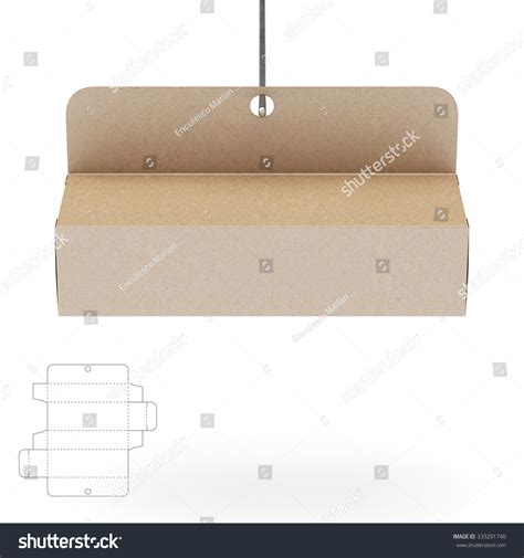 hanging die cut bead card template hanging empty box die cut template stock illustration