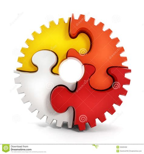 Puzzle Part puzzle parts forming a gear stock photo image 55020450