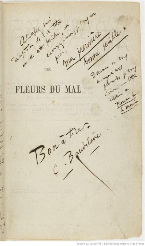 baudelaire i fiori poesie les fleurs du mal 233 preuves d imprimerie par charles