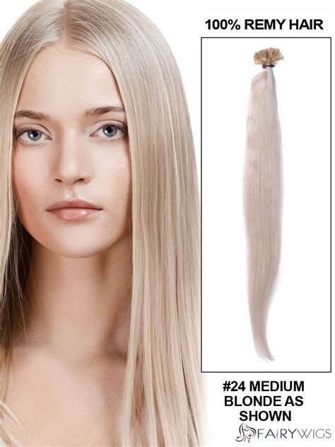 light silky keri hilson straight blonde medium length remy human light blonde silk straight nail u tip brazilian remy hair