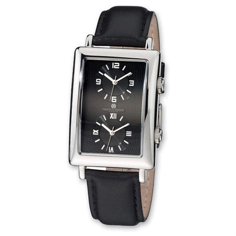 s charles hubert 174 dual time rectangular