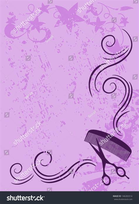 ornament vector salon background in purple