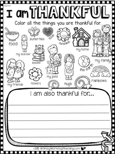 i am thankful for template pre k card teaching gratitude and kindness whimsy workshop teaching
