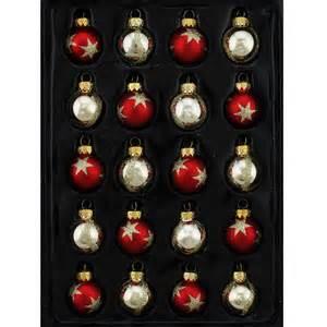 20 piece mini glass ball christmas ornament set wayfair