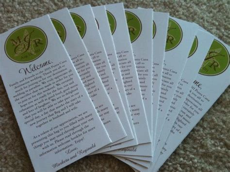 Destination Wedding Brochure For Guests by Wedding Welcome Brochure Timeline For Guests Including