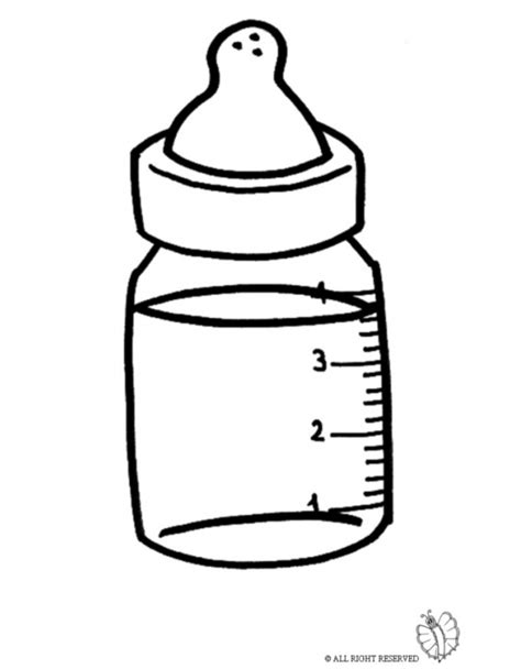 coloring page baby bottle coloring page of the baby s bottle for coloring for kids