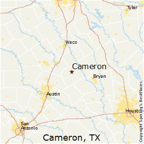 cameron texas map best places to live in cameron texas