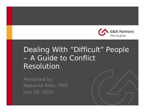 12 Basic Tips For Dealing With Conflict by Dealing With Quot Difficult Quot A Guide To Conflict