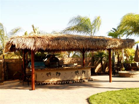 Two Piece BBQ Island W/ Solid Roof Palapa   Extreme