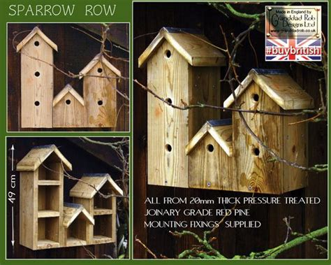 house sparrow nest box design sparrow row bird box sparrows are communal nesters hence the nesting village design