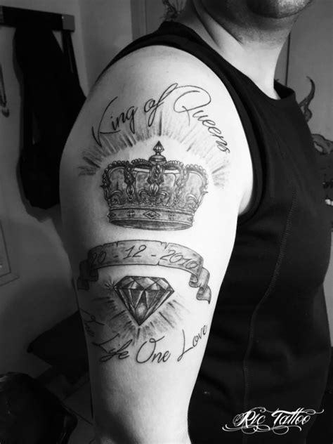 king and queen tattoo ribs ric tattoo 06 19 88 58 27 04 91 50 80 04 couronne