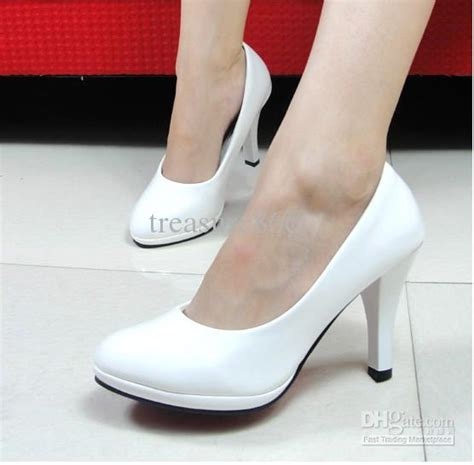 Pp0059 Hot Sell Popular White Wedding Shoes High Heels White Wedge Shoes Wedding