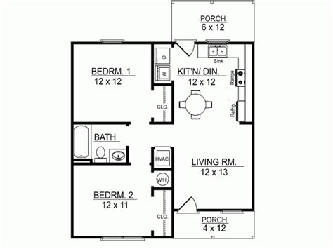 small one story house plans find house plans one story plano de casa de 2 dormitorios y 68 metros cuadrados
