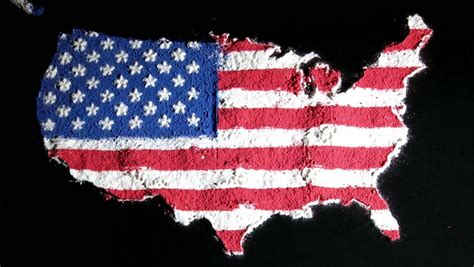 us map black background us map and flag contiguous black background stock