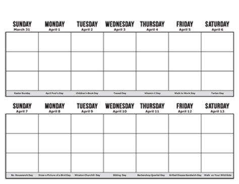 free two week calendar template calendar template 2017