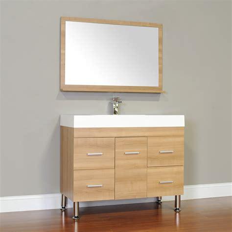 ripley 39 in single modern bathroom vanity in light oak