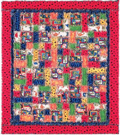 free printable rag quilt patterns dinorama rag quilt free pattern robert kaufman fabric company