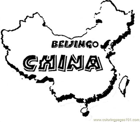 free coloring pages of map of china