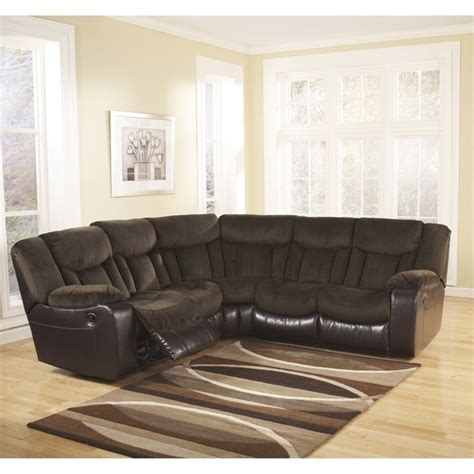 ashley furniture sectional microfiber ashley furniture tafton microfiber reclining sectional in