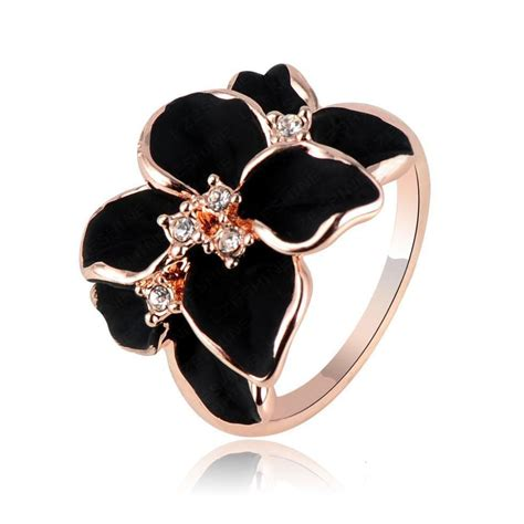 hotting sale jewelry ring with rose gold plt swa elements
