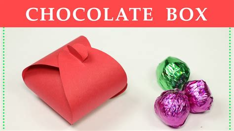 How To Make A Small Paper Box - diy gift box how to make a small paper box for chocolate