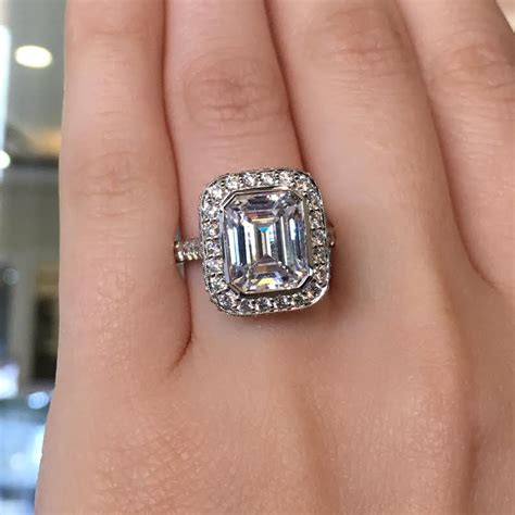 tacori royalt ht2614 emerald cut halo engagement