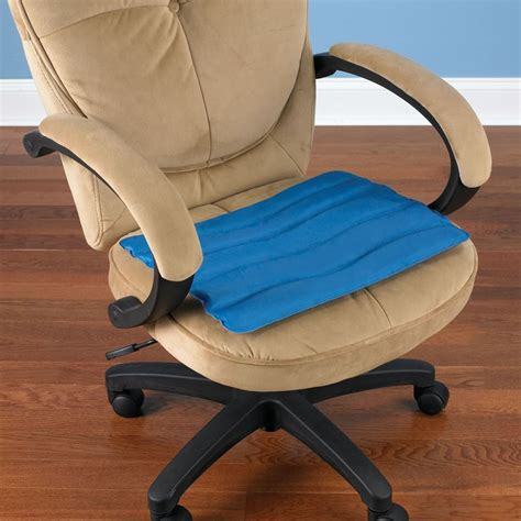 Cooling Chair by The Cooling Gel Seat Cushion Hammacher Schlemmer