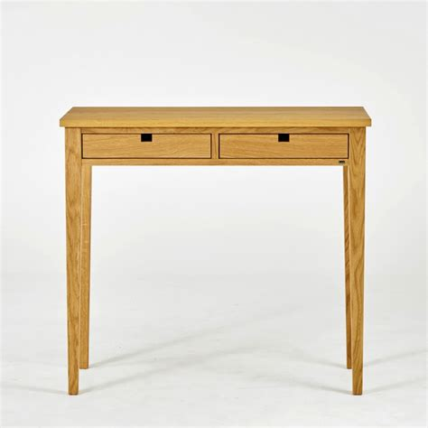 Oak Console Table With Drawers by Gad Ala Two Drawer Oak Console Table Hus Hem