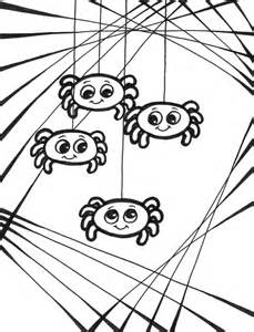 halloween spider coloring getcoloringpages