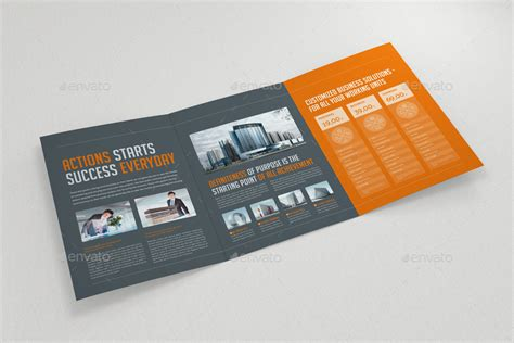 6 page brochure template business trifold brochure by miking on tri fold brochure