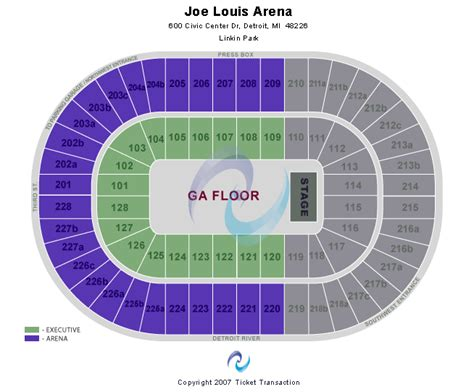 Joe Louis Arena Floor Seating Chart by Cheap Joe Louis Arena Tickets
