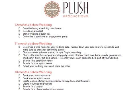 cute printable wedding checklist 12 month wedding checklist printable pictures to pin on