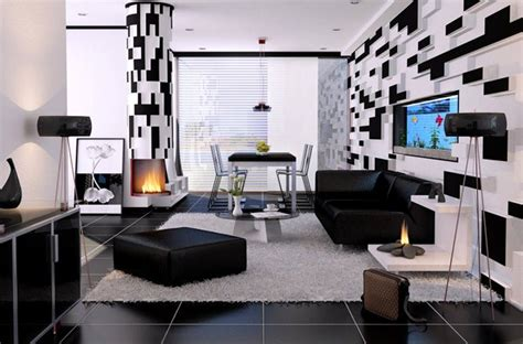 Modern Black Dining Room Sets by Black And White Living Room Design And Ideas