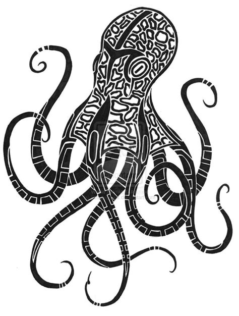 tribal squid tattoo tribal octopus designs