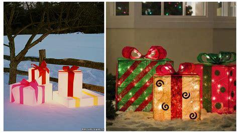decoracion de casas para navidad exteriores cajas de regalo para decorar exteriores en navidad