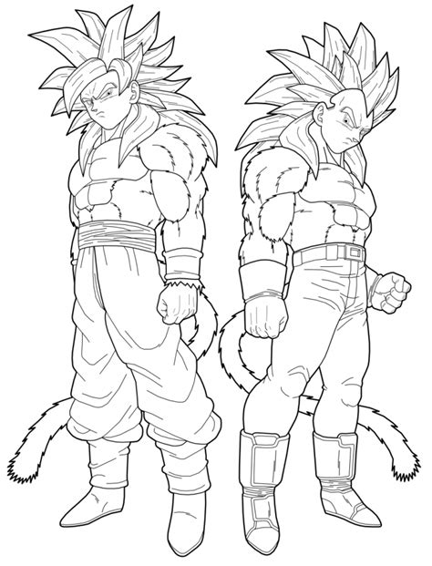 print goku az coloring pages