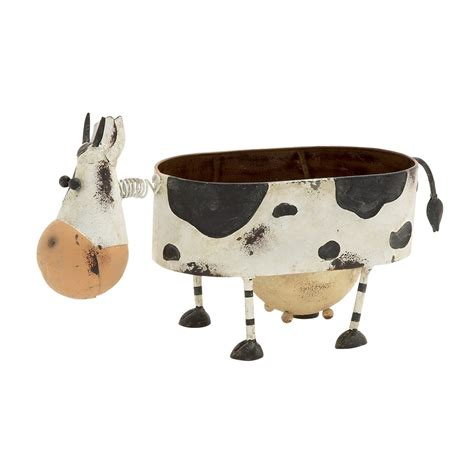 Cow Planters by Funky Looking Metal Cow Planter