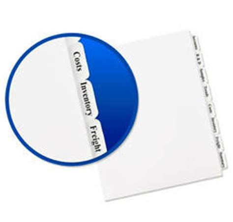 avery index maker clear label dividers with white tabs 3